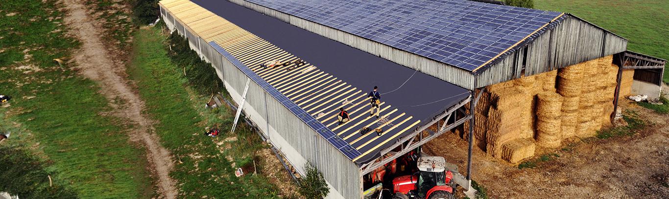 Cubierta solar en empresas de energia solar